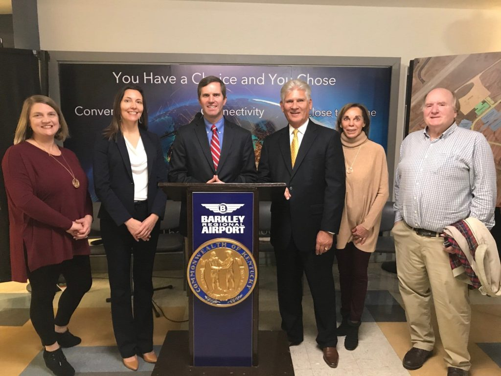 The team from Bryant Law Center at Barkley Airport for Terminal Grant 5 million dollars by Gov. Andy Beshear