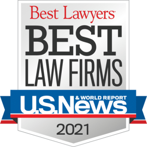 U.S. News Best Lawyers: Best Law Firms 2021 Badge