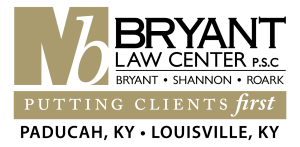 Bryant Law Center Logo. Putting Clients First in Paducah, KY and Louisville, KY